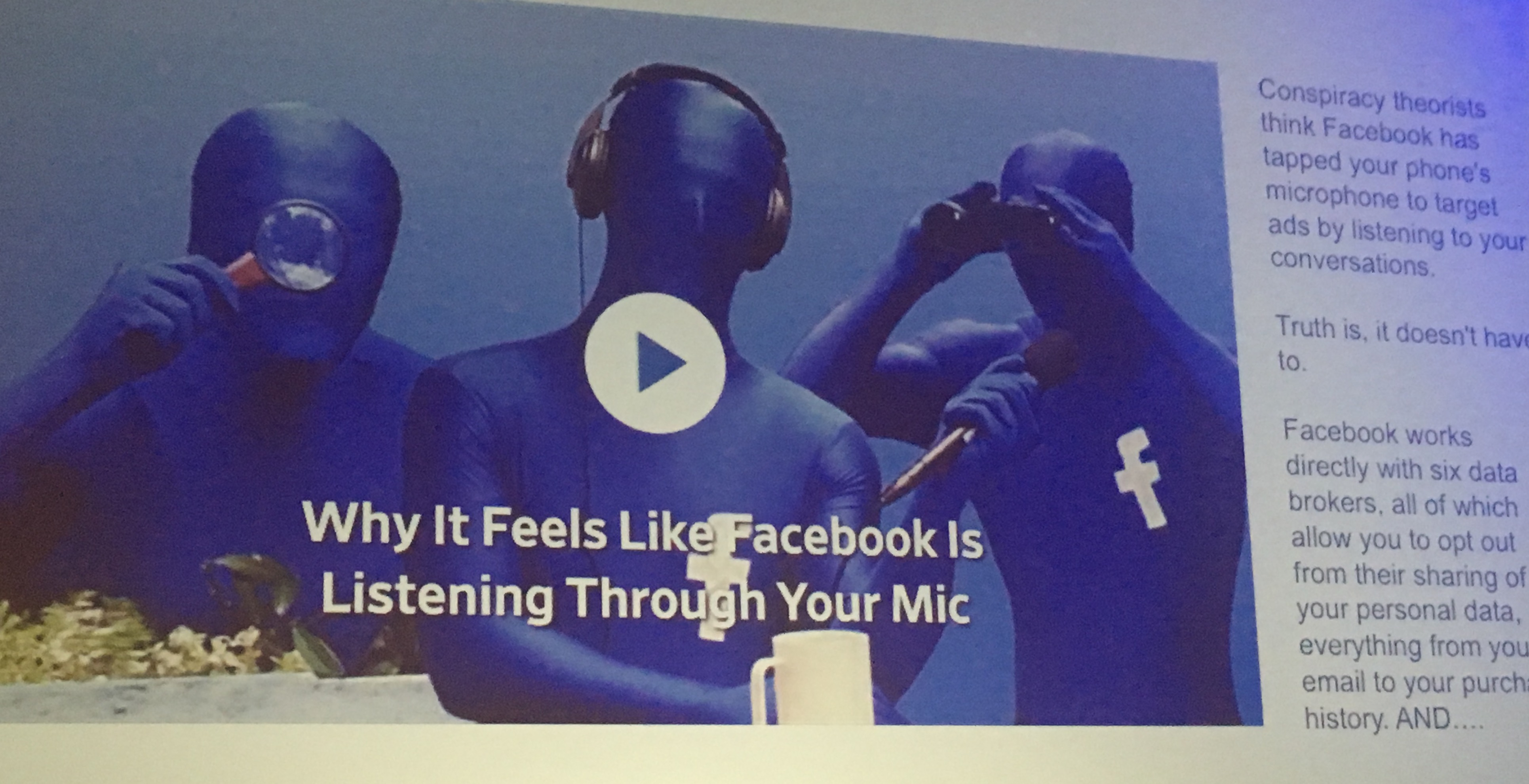 Why it feels like Facebook is listening through your mic